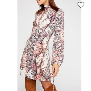 NWT Free People all dolled up Paisley print dress